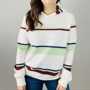 LUCKY BRAND Surfside Hoodie S Striped Pullover